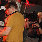 Filming in club Midi – Cluj-Napoca, Romania