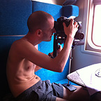 Filming in the train – near Moscow, Russia